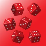 Dados vermelhos com pontos brancos Imagem de Stock Royalty Free