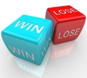 Dados - a vitória contra perde ilustração royalty free