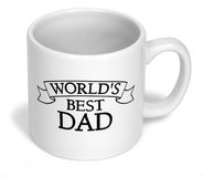 Dads cup two. White cup Stock Photos