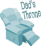 Dads Throne Royalty Free Stock Image
