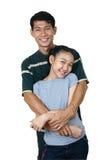 Dady e figlia Fotografie Stock Libere da Diritti