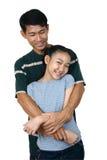 Dady e filha Foto de Stock