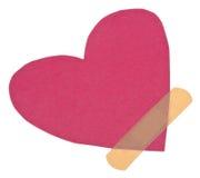 Dae (dispositivo automático de entrada) de faixa sobre um coração quebrado Fotografia de Stock