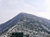 Daecheongbong Il più alto picco delle montagne di Seoraksan Fotografie Stock