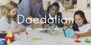Daedalian Crafty Intelligent Artistic Smart Concept.  Stock Images