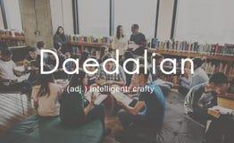 Daedalian Crafty Intelligent Artistic Smart Concept Stock Photos