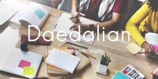 Daedalian Crafty Intelligent Artistic Smart Concept Stock Image