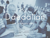 Daedalian Crafty Intelligent Artistic Smart Concept Royalty Free Stock Photo