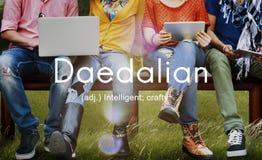Daedalian Crafty Intelligent Artistic Smart Concept. Daedalian Crafty Intelligent Artistic Smart Royalty Free Stock Photo
