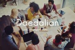 Daedalian slugt intelligent konstnärligt smart begrepp Royaltyfri Fotografi