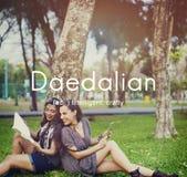 Daedalian slugt intelligent konstnärligt smart begrepp Fotografering för Bildbyråer