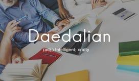 Daedalian slugt intelligent konstnärligt smart begrepp Arkivfoton