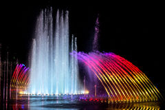 Daedepo Musical Fountain Korea, colorful fountain like a crown Stock Photography