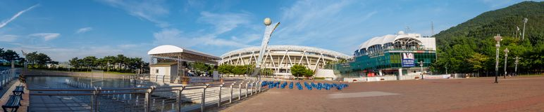 Daegu-Stadion, früher genannt Daegu World Cup Stadium stockfoto