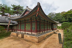 Daejojeon Hall of Changdeokgung Palace in Seoul, South Korea stock photos