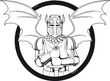 Daemon logo. Logo which depicts a knight Stock Photography