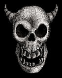 Daemon skull. Hand drawn daemon skull. Eps8 Organized by layers Gradients free Royalty Free Stock Image