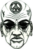 daemon δερματοστιξία προσώπο&upsilo Στοκ εικόνα με δικαίωμα ελεύθερης χρήσης