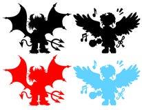 daemons en engelen stock illustratie