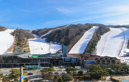 Daemyung Vivaldi Park ski resorts Royalty Free Stock Images