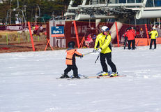 Daemyung Vivaldi parka ośrodki narciarscy Zdjęcie Royalty Free