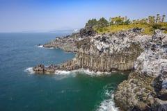 Daepo Jusangjeolli Cliff, Jeju Island Stock Photos