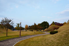 Daereungwon坟茔复合体 免版税库存图片