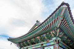 Daeseongsa寺庙屋顶 免版税库存图片