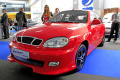 Daewoo Lanos. KIEV - SEPTEMBER 10: Yearly automotive-show Capital auto show 2010. September 10, 2010 in Kiev, Ukraine. Daewoo Lanos Stock Photography