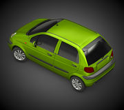 Daewoo Matiz (2006). 3D Render of Daewoo Matiz on dark background Royalty Free Stock Image
