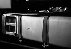 DAF卡车汽油箱细节  免版税库存照片