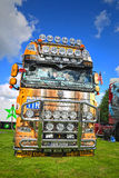 DAF XF 105 510个卡车体型光辅助部件 库存照片
