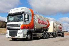 DAF XF 105.460 Bulk Truck and Trailer stock photography