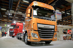 DAF XF 510 Euro 6 Truck Tractor on Display Stock Image