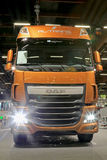 DAF XF 510 Euro 6 Truck Tractor Headlights Royalty Free Stock Photos