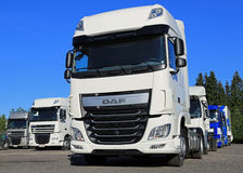 DAF XF Euro 6 Truck on a Yard Royalty Free Stock Images