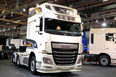 DAF XF 510 Nordic Edition Semi Truck on Display stock photos