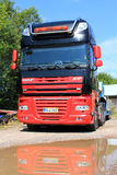 DAF XF 105 Truck with Reflection Royalty Free Stock Photos