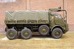 DAF YA-328经典军用卡车-侧视图 免版税库存图片