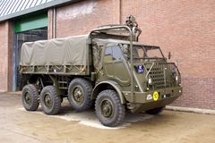 DAF YA-328经典军用卡车 免版税库存照片
