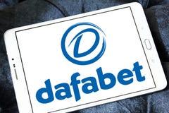 Dafabet online het gokken bedrijfembleem Royalty-vrije Stock Afbeeldingen