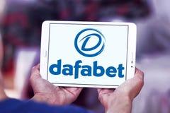 Dafabet online het gokken bedrijfembleem Royalty-vrije Stock Foto's