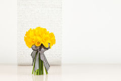 Daffodil bouquet on blur background Royalty Free Stock Photos