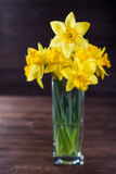 Daffodil bouquet. Easter daffodil bouquet in vase Stock Images