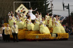 Daffodil Festival queen's float Royalty Free Stock Photo