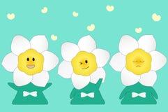 Daffodil flower cartoon Stock Image