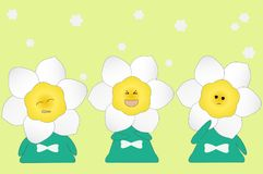 Daffodil flower cartoon Stock Photo