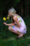 Daffodil Girl Royalty Free Stock Photo