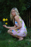 Daffodil Girl Royalty Free Stock Image