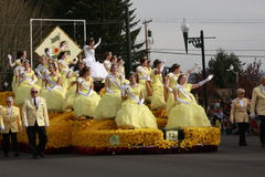 Daffodil Parade Queen float Stock Image